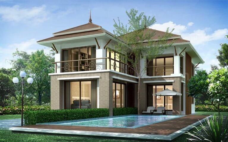 Mẫu thiết kế biệt thự có hồ bơi đầy thu hút